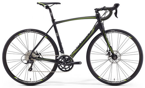 Merida Ride 200 Disc Negra-Verde-Blanca